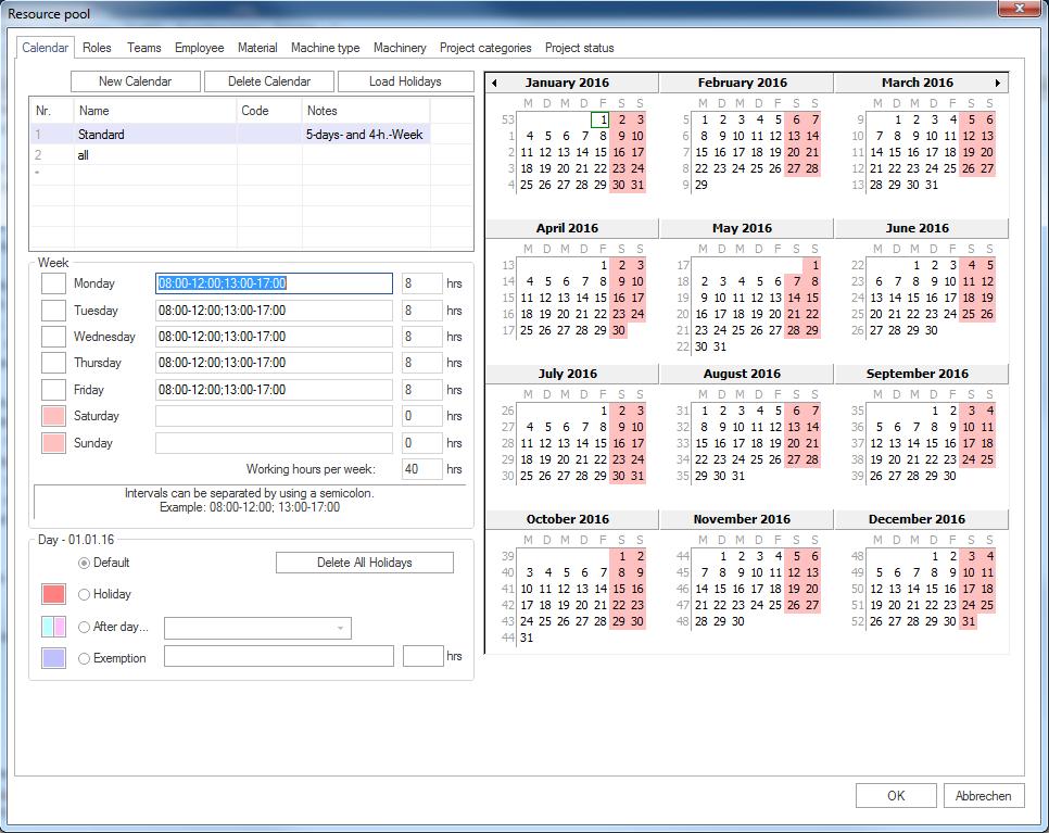 Set and adjust calendars — rp8_ris_en 8 documentation